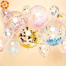 5pcs 12inch Multicolor Confetti Balloon Foil Wedding Party Decoration Thickening Pear Balloons Birthday Decorations