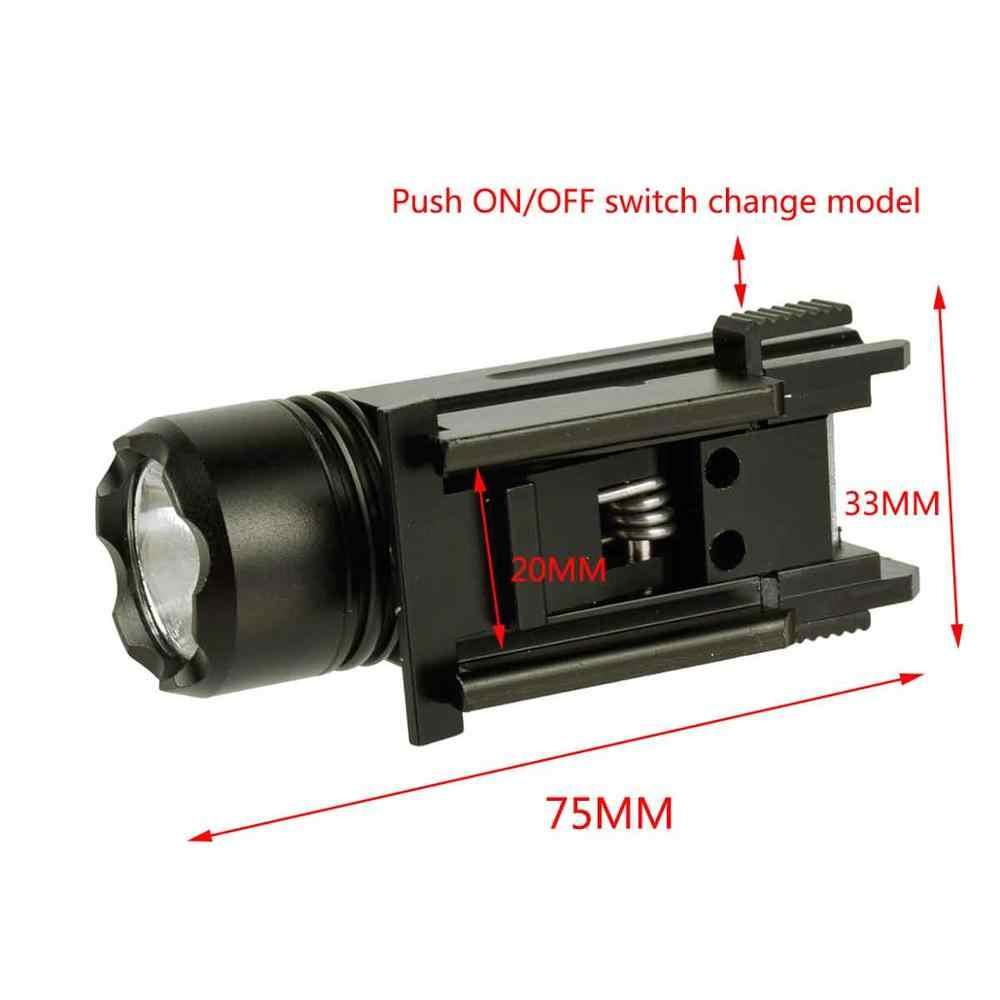 Airsoft Tactical Mini Pistol Luz QD Rápida Separar Revólver Shotgun Rifle Pistola Glock Tocha Lanterna LED Luz para 20mm ferroviário