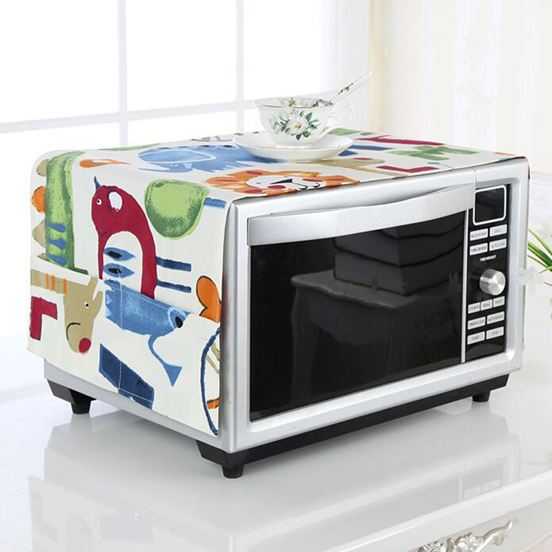 Microwave Oven Cover Microwave Oven Dust Cover Cloth Cloth Oven Cover Storage Bag Kitchen Accessories Supplies Home Decoration