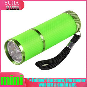 Бренд UV Flashligh 4 цвета 9 Led ультра фиолетовый фонарь светильник лампа бесплатная доставка Сушилка для ногтей Клей ювелирное оборудование инст...