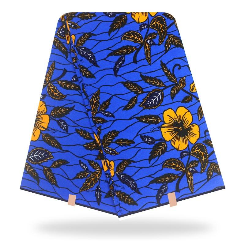 2020 New Arrival Dashikiage African High Quality Dutch Wax Fabric 100% Cotton Beautiful Flower Wax Print Fabric 6 Yards\Set
