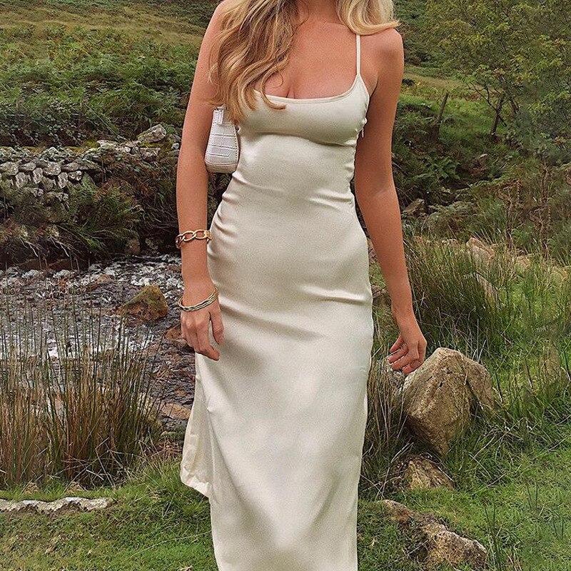 Silky Backless Dress