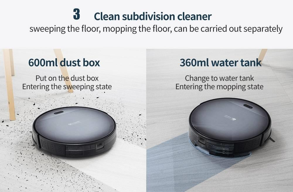 Hea14b6953315428b993bc3dc54cd5d3eh Proscenic 800T Robot Vacuum Cleaner Automatic Sweeping Dust Mopping Mobile App Remote Control Planned Robotic