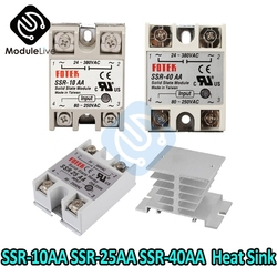 SSR-10AA SSR-25AA SSR-40AA AC Control SSR White Shell Single Phase Solid State Relay 10A 25A 40A LED 10AA 25AA 40DA 50AA Relay