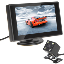 480 x 272 Resolution  4.3 Inch Color TFT Car Monitor + 420 TV Lines Night Vision Camera with 170 Degrees Wide Angle Lens New