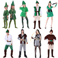 Cosmetic Ball Adults Men and Women Cost Children Green Fairy Fairy Dresses Peter Pan Green Arrow Dresses Party Supplies