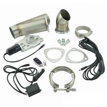 Espeeder 2,5 'нержавеющая сталь коллекторы Y трубы Электрический выхлоп комплект с дистанционным управлением