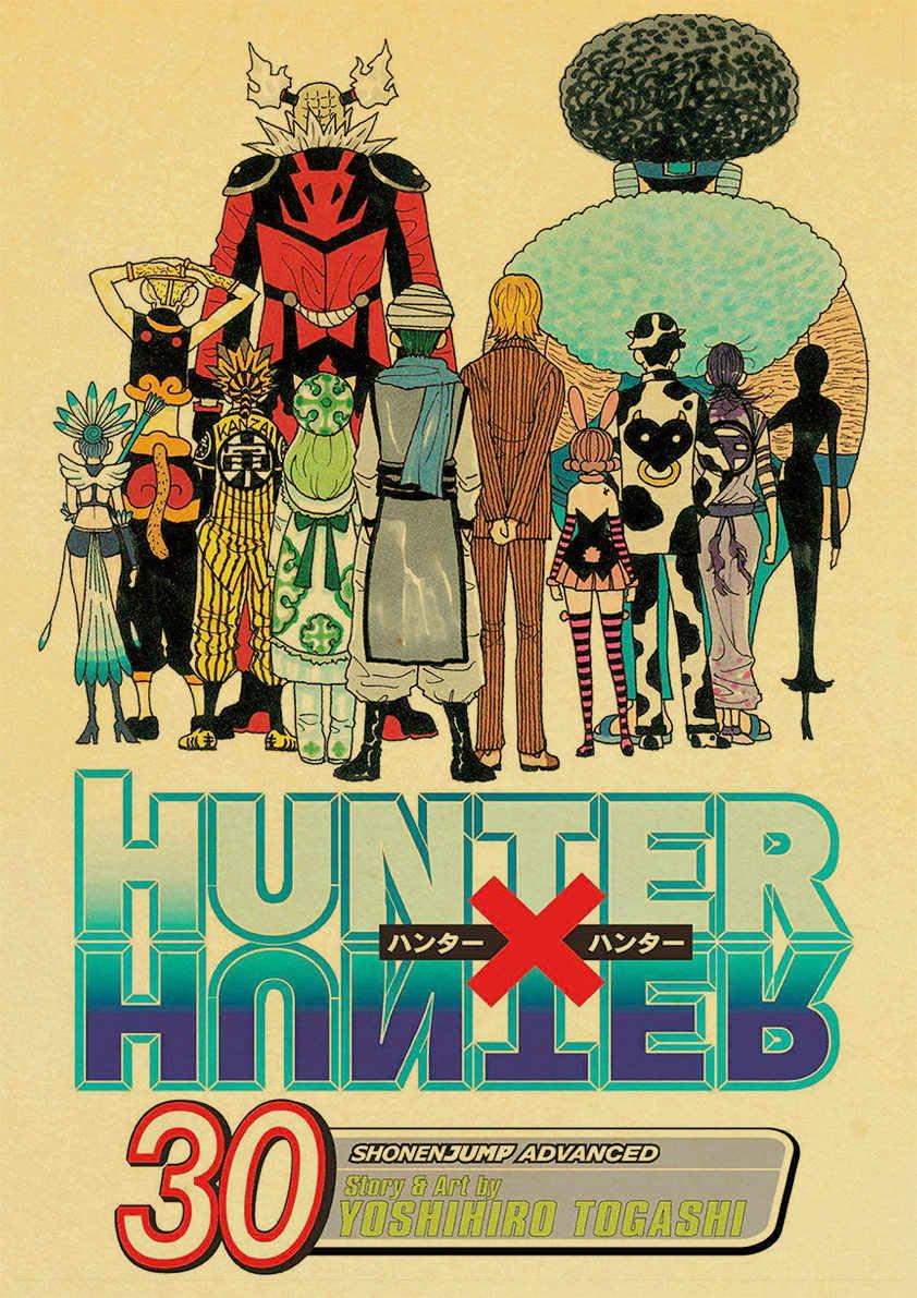 ハンター × ハンターポスター人気クラシックアニメ家の装飾レトロポスタープリントクラフト紙ウォールアートホームルームの装飾