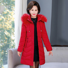 2020 winter women long parka solid thick jacket oversize slim hooded fur collar office ladies coat outwear abrigo mujer invierno