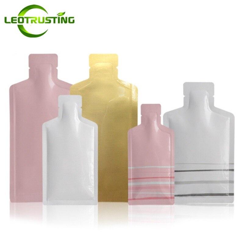 Leotrusting Розовая/белая/Золотая бутылка в форме алюминиевой фольги мешок с открытым верхом масло для шампуня крем жидкая пробная термоизоляци...