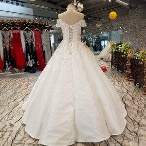 Image 2 - LS09670 어깨 아가씨 신부 가운 중국 온라인 상점 도매 오프 구슬과 바닥 길이 웨딩 드레스