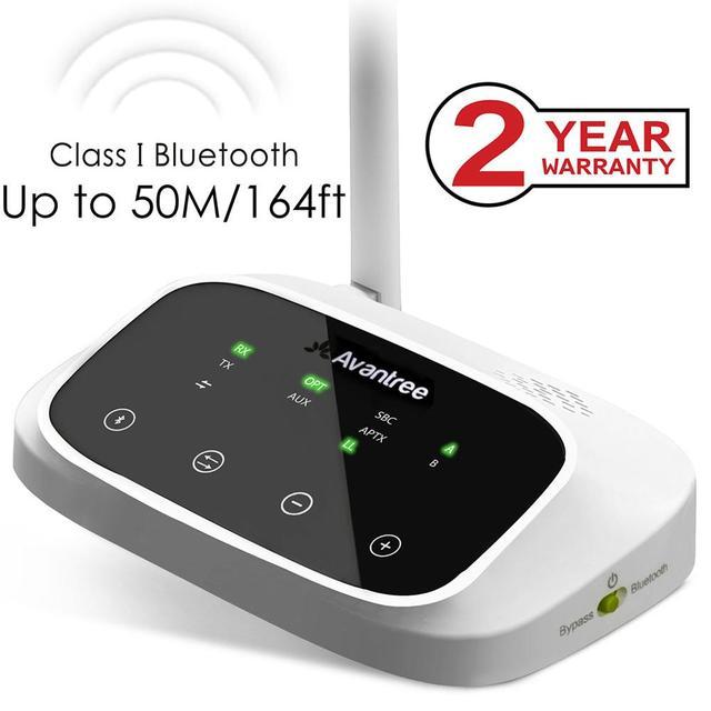 Abd yeni Avantree Oasis uzun menzilli Bluetooth verici alıcı TV ve PC için, aptX düşük gecikme kablosuz ses adaptörü