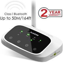 """ארה""""ב החדש Avantree אואזיס ארוך טווח Bluetooth משדר מקלט לטלביזיה ומחשב, aptX נמוך השהיה אלחוטי אודיו מתאם"""