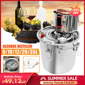 8/10/12/20/35L Efficient Distiller Moonshine Alcohol Stainless Copper DIY Home Water Wine Essential Oil Brewing Kit