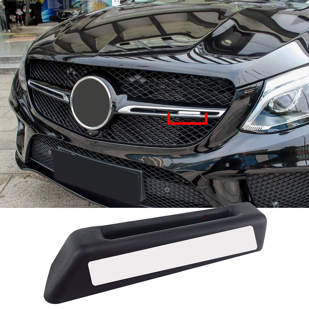 1-20pcs For AMG Logo Car Front <font><b>Grill</b></font> Badge Sticker For Mercedes <font><b>Benz</b></font> CLA GLA GLE GLC GLS CLS SL C E A Class <font><b>W204</b></font> W211 W212 W207 image