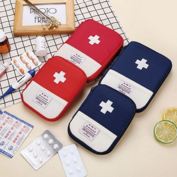 Portable Outdoor Travel Car First Aid Kit Medicine Bag Home Medical Box Emergency Survival Pill Case Pouch Household Storage Bag image