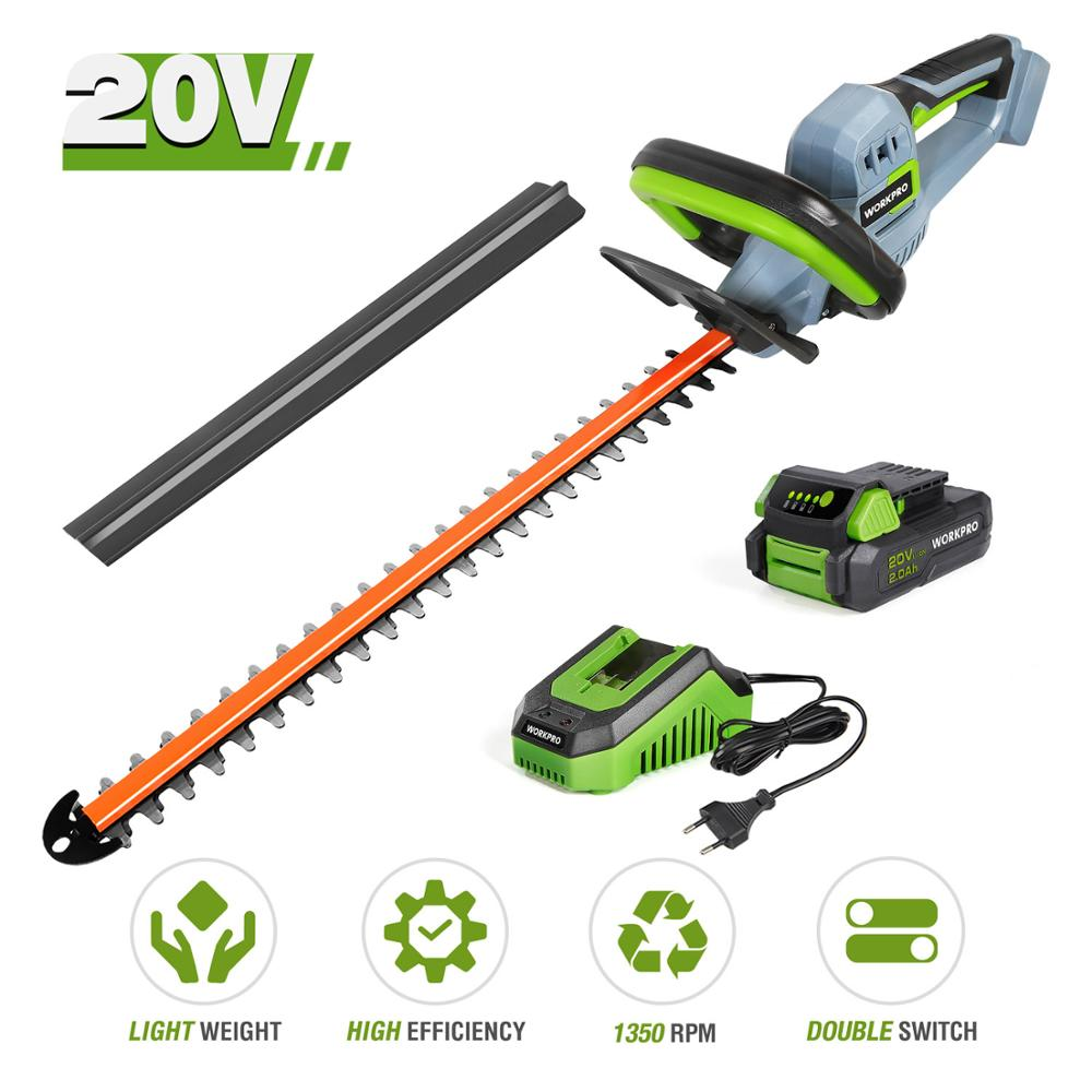 20V Electric Cordless Household Trimmer Hedge Trimmer Quick Charge Rechargeable Electric Trimmer Pruning Saw with Blade