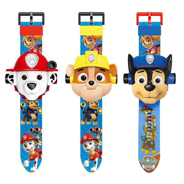 Paw Patrol Electronic Projection Watch Reloj Patrulla Canina Puppy Watch Patrol Children Birthday Partydecorations Gift 5