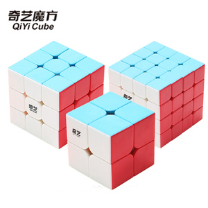Magic Cube 2x2x2 3x3x3 4x4x4 QIYI Brand Speed Cube Stickers & Solid Color Puzzle Cubo Magico Toys for Children