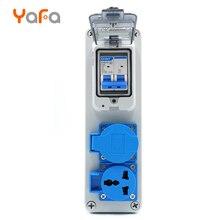 Экономичная Водонепроницаемая электрическая коробка, 16 А наружная водонепроницаемая розетка, IP65 водонепроницаемый переключатель, IP54 многофункциональная розетка