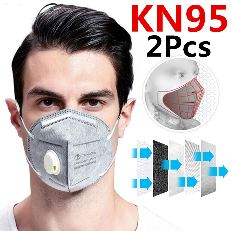 Reusable Respirator 6 Layers Filter FFP2 FFP3 KN95 Mask Valved Face Mask Protection Face Mask Mouth Cover Pm2.5 Dust Masks 1