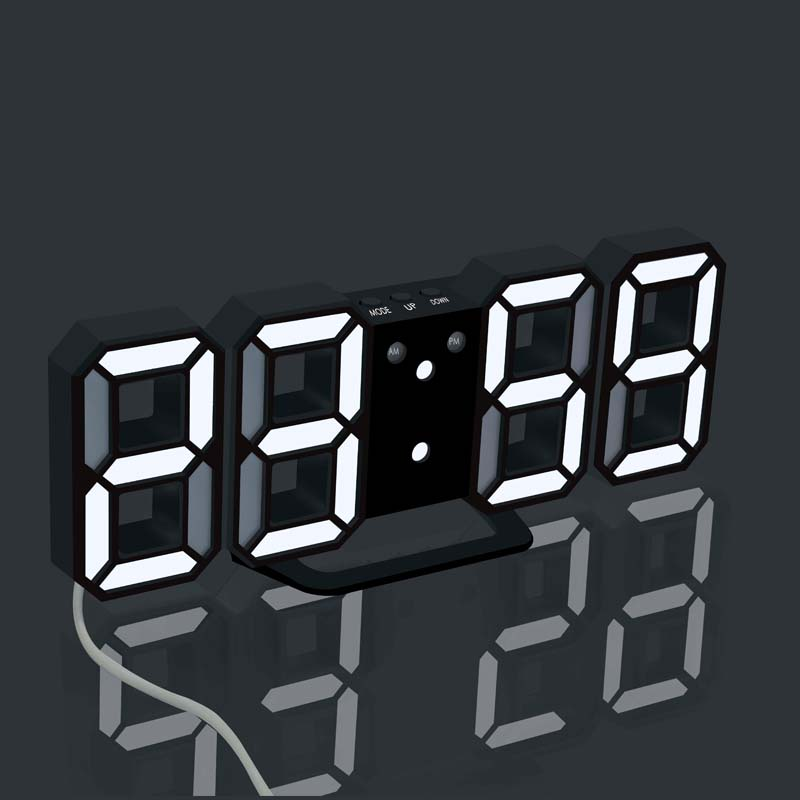 LED Digital Clock Desktop Alarm Clocks Wall Hang Clocks Bedside Table Home Decoration Electronic Watch With Snooze Thermometer