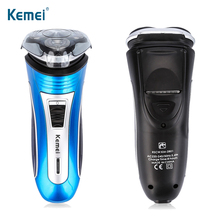 KEMEI Rechargeable Electric Shaver Men Waterproof Shaving Machine 3D Triple Floating Blade Electric Razor Beard Shaving For Men цена и фото