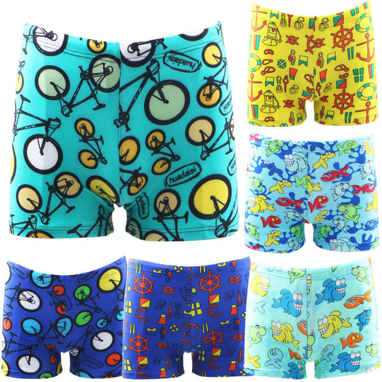 HNSD CHILDREN'S Swimming Trunks Quick-Dry Hot Springs Youth Swimming Trunks BOY'S Big Boy AussieBum 7911
