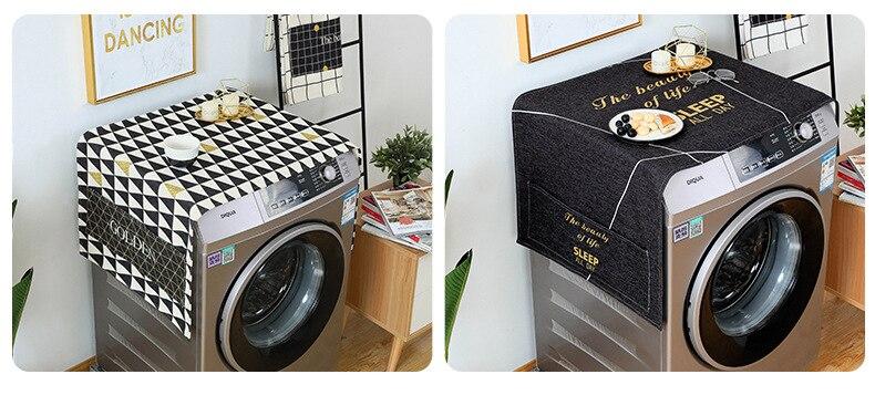 lavar roupa capas geladeira organizador capa poeira decoração casa lavador