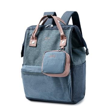 Hemp polyester shoulder bag backpack large bag computer bag run away from home bag