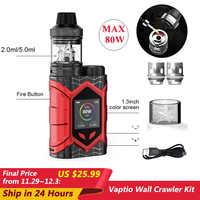 [Ograniczona specjalna wyprzedaż] oryginalny Vaptio Wall Crawler zestaw do e-papierosa 2.0/5.0ml parownik 80W 0.05/2ohm E papieros TCR 1.3 calowy monitor tft