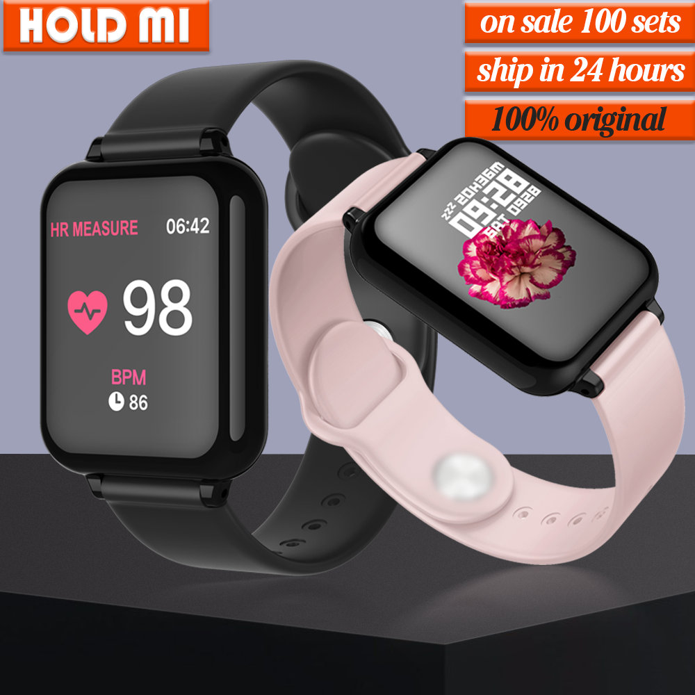 New B57 Smart Watch Bracelet IP67 Waterproof Heart Rate Monitor Blood Pressure Fitness Tracker Women Men Sport Wearable Watch