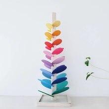 Arbre en bois à sons de marbre, jeu interactif, blocs de Jenga, jouets éducatifs pour enfants