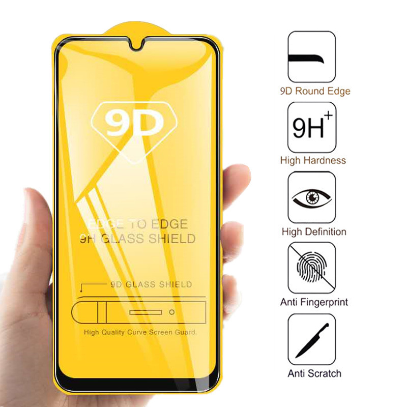 9D Full Cover Tempered Glass For Xiaomi 9 Redmi 7A 7 8A 6 6A K20 Pro Redmi Note 5 7 8 Pro Plus Protective Screen Protector Film