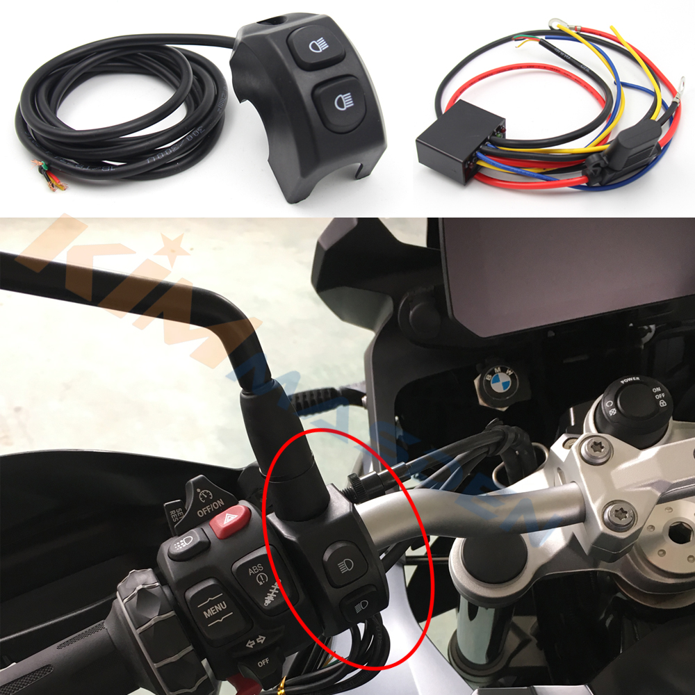 Motorrad Griff Nebel Licht Switch Control smart relais Für BMW R1200GS R <font><b>1200</b></font> <font><b>GS</b></font> R1250GS F850GS f750gs F750GS ADV Abenteuer LC image
