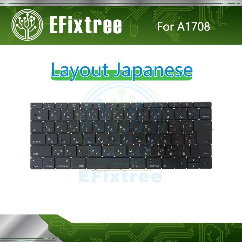 Original nouveau clavier A1708 japonais avec rétro-éclairage pour Macbook Pro Retina 13