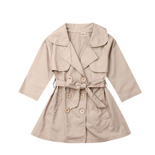 2019 New Fashion Toddler Kids Baby Girl Long Trench Coat Autumn Outerwear Wind J