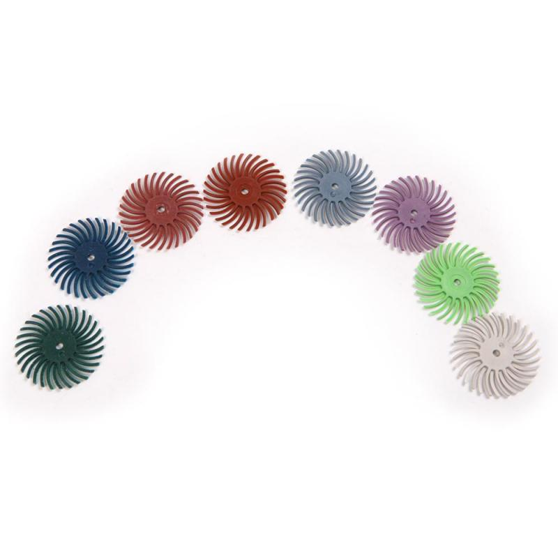 8pcs Grit 80# 120# 220# 320# 400# 600# 1000# 2500# Radial Bristle Disc Brushes For Polishing