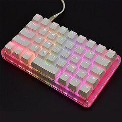40 tasti 24 Macro Programmabili HA PORTATO RGB Retroilluminazione Singolo Mancino Meccanico Tastiera del PC Del Computer Portatile MAC WIN7 8 10 Outemu interruttore
