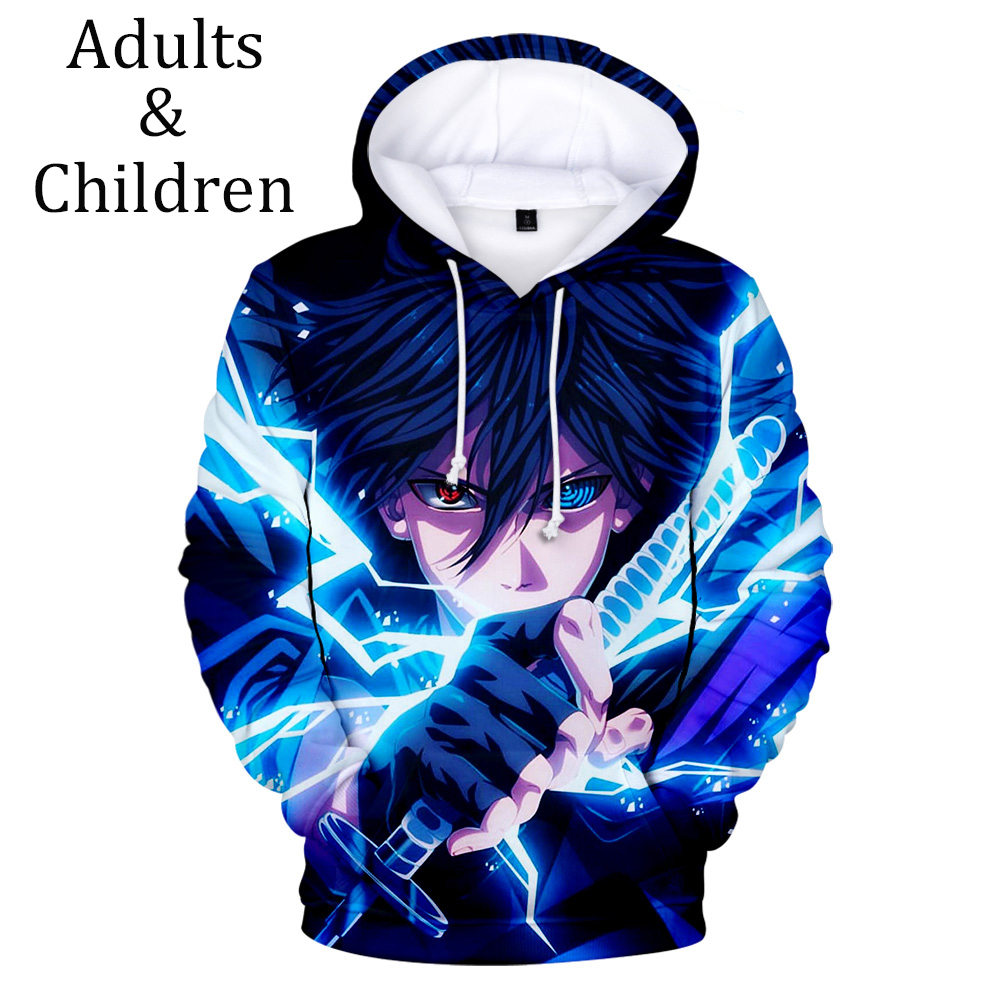3D Naruto Hoodies Men Women Sweatshirt Fashion Sasuke Hooded Autumn Kakashi 3D Cartoon Casual Harajuku Hip Hop Kids Boy Pullover