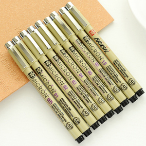 1pcs Sakura Liner Pen Set Waterproof Black Fineliner Micron Pen Design Sketch Drawing Marker Artist Markers