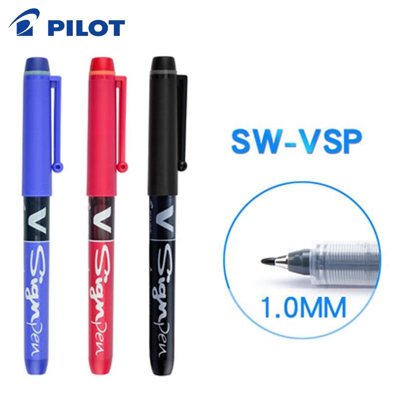 12 pcs lote sw vsp piloto caneta gel negrito grande capacidade estudante caneta esboco esboco de