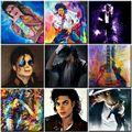 Набор для рисования по номерам Майкл Джексон, акриловая краска «сделай сам», домашний декор для взрослых