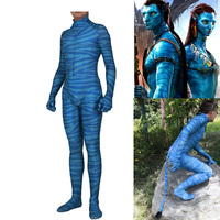 Avatar Cosplay Costume Digital Printing Zentai Jumpsuits Adults Kids Suit Bodysuit Halloween Carnival Costumes