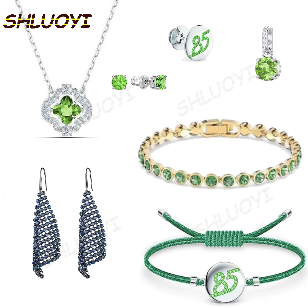 2020 fashion jewelry SWA new green series, charming 85 style women's exquisite pendant necklace