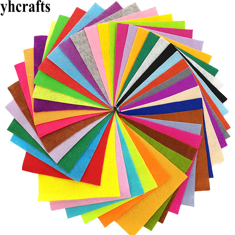 40PCS/LOT.15cm 40 Color Felt Sheets Fabric Sheet,Handmade Material,Crafts Accessories Kindergarten Crafts Material Adult DIY OEM