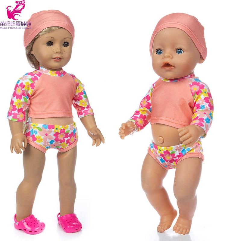 17 pulgadas de la muñeca ropa para nadar conjunto bebé niña regalo de la muchacha de 18 pulgadas bikini para muñeca nadar USA 1:6 modelo de pistola de plástico montar arma de soldado para 12