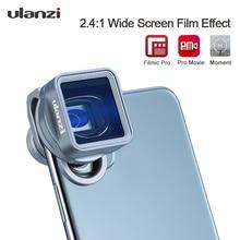 Ulanzi 1.33XT Anamorphicโทรศัพท์เลนส์กรองชุดFilmmakingโทรศัพท์กล้องเลนส์กว้างเลนส์โดยFilmic Proภาพยนตร์