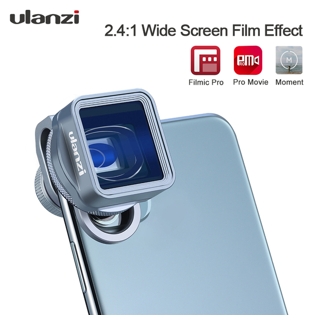 Ulanzi 1.33XT Anamorphic Phone Lens Bag Filter Kit Filmmaking Phone Camera Lens Widescreen Movie Lens by by Filmic Pro Movie
