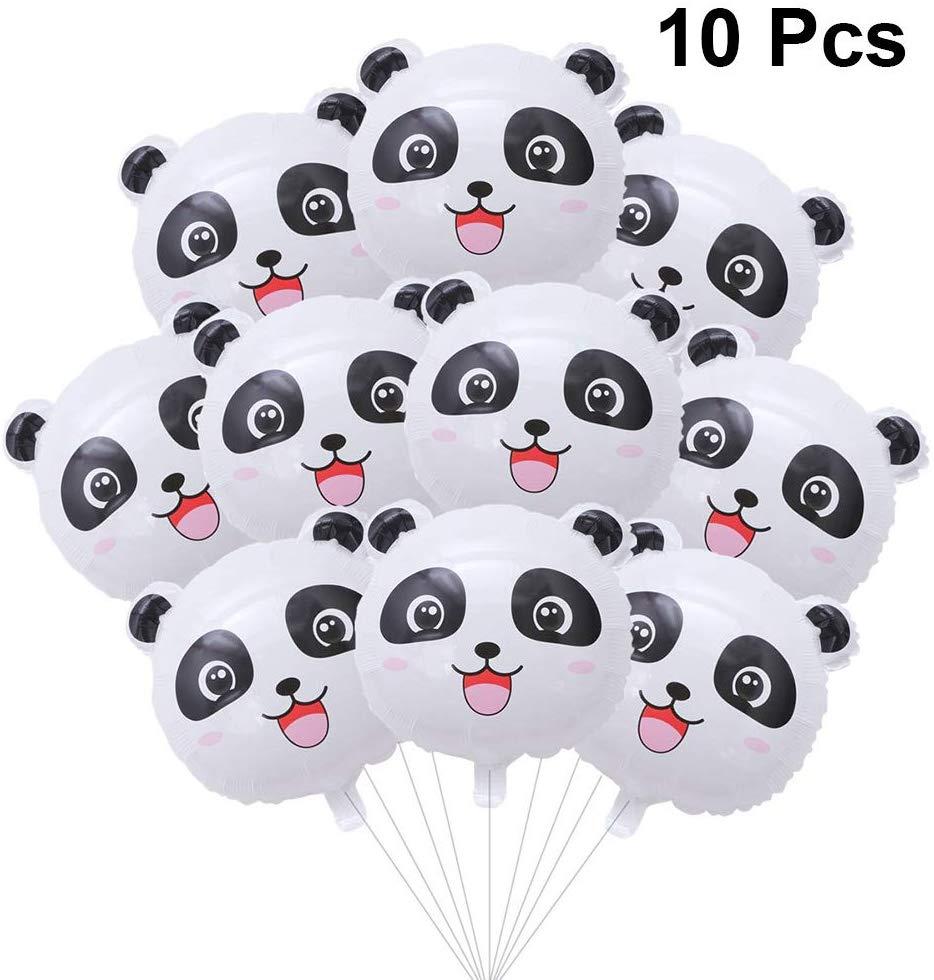 10 шт. милый воздушный шар с пандой надувные шары из алюминиевой фольги с головой панды шар букет для Baby Shower или для вечеринки по случаю панда ...